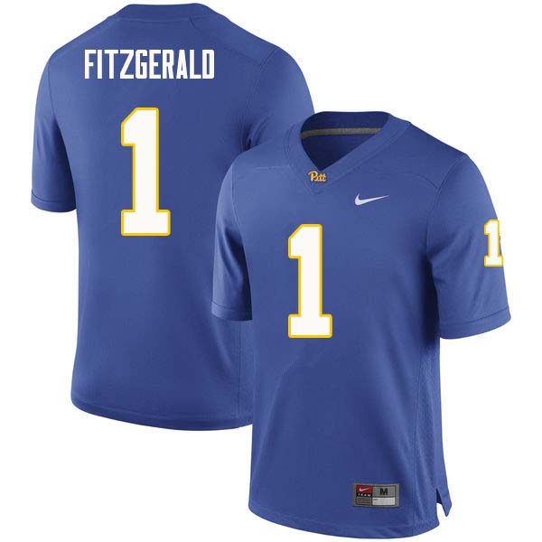 Men #1 Larry Fitzgerald Pittsburgh Panthers College Football Jerseys Sale-Royal